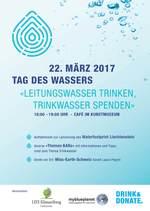 Tag des Wassers: «LEITUNGSWASSER TRINKEN, TRINKWASSER SPENDEN»