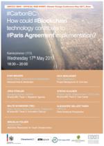 #CarbonBC:                   Wie die Blockchain Technologie die Umsetzung des Pariser Klimaabkommen unterstützen kann…